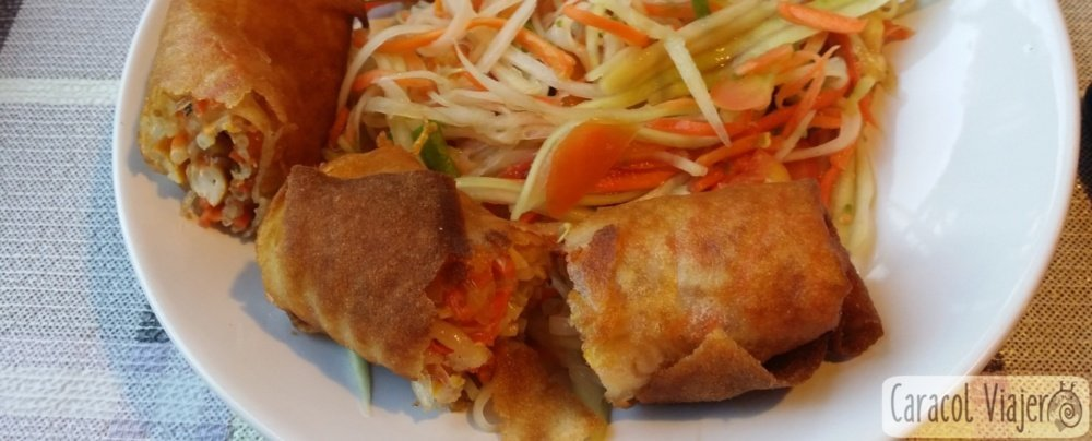 Rollitos de primavera tailandeses en 30 minutos