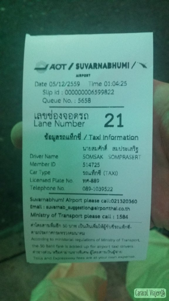 Ticket Suvarnabhumi airport taxi
