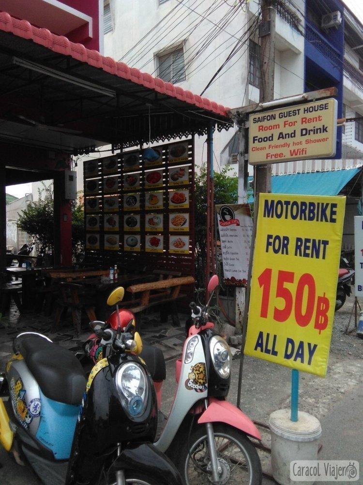 Alquiler moto Ayutthaya precio