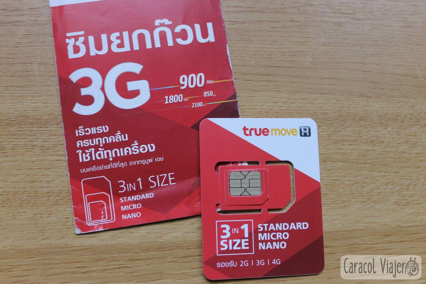 Tarjeta True Move Tailandia