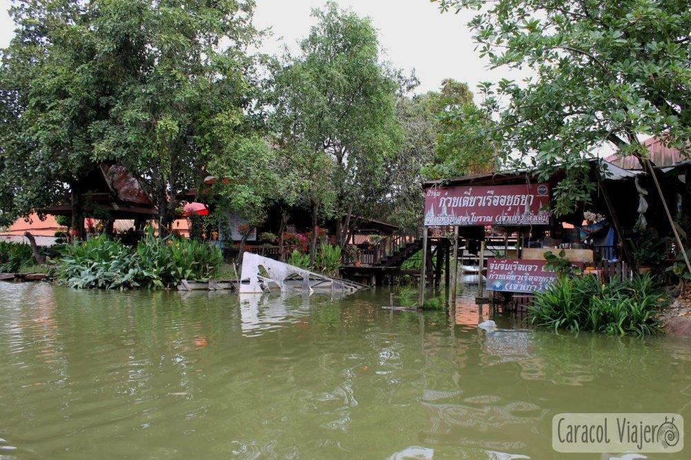 Mercado flotante de Ayutthaya