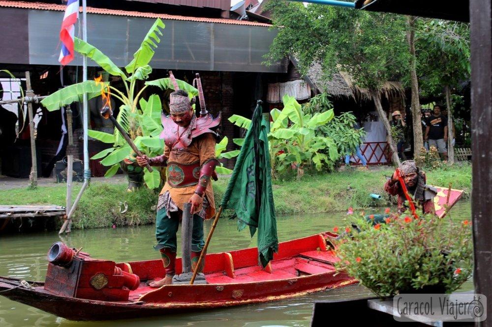 Espectáculo mercado flotante Ayutthaya