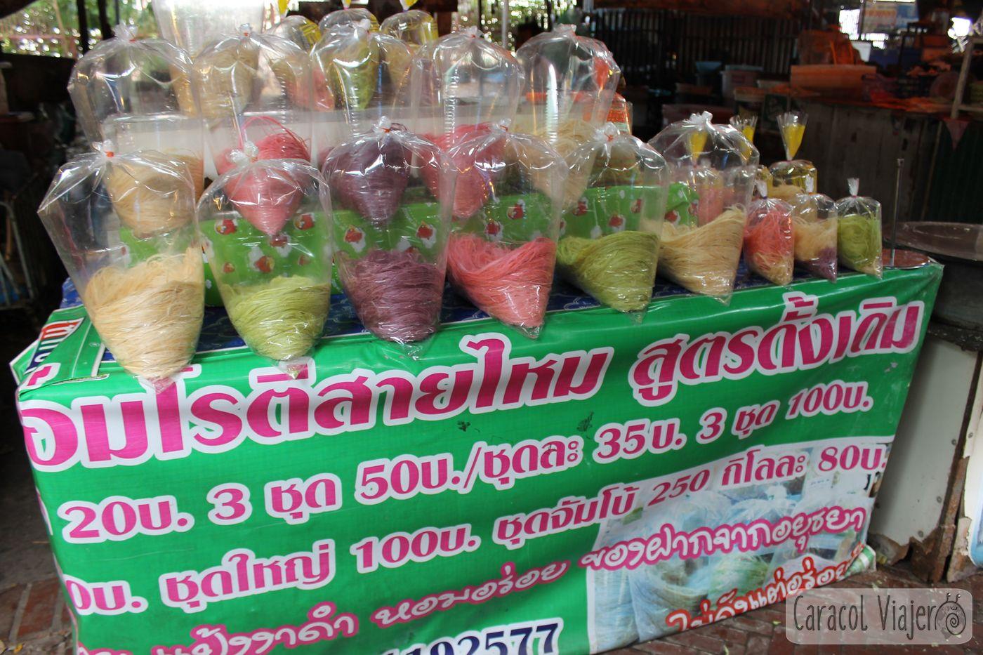 Bolsas de algodón de azúcar, Roti Sai Mai - ¿cuántos días en Ayutthaya?