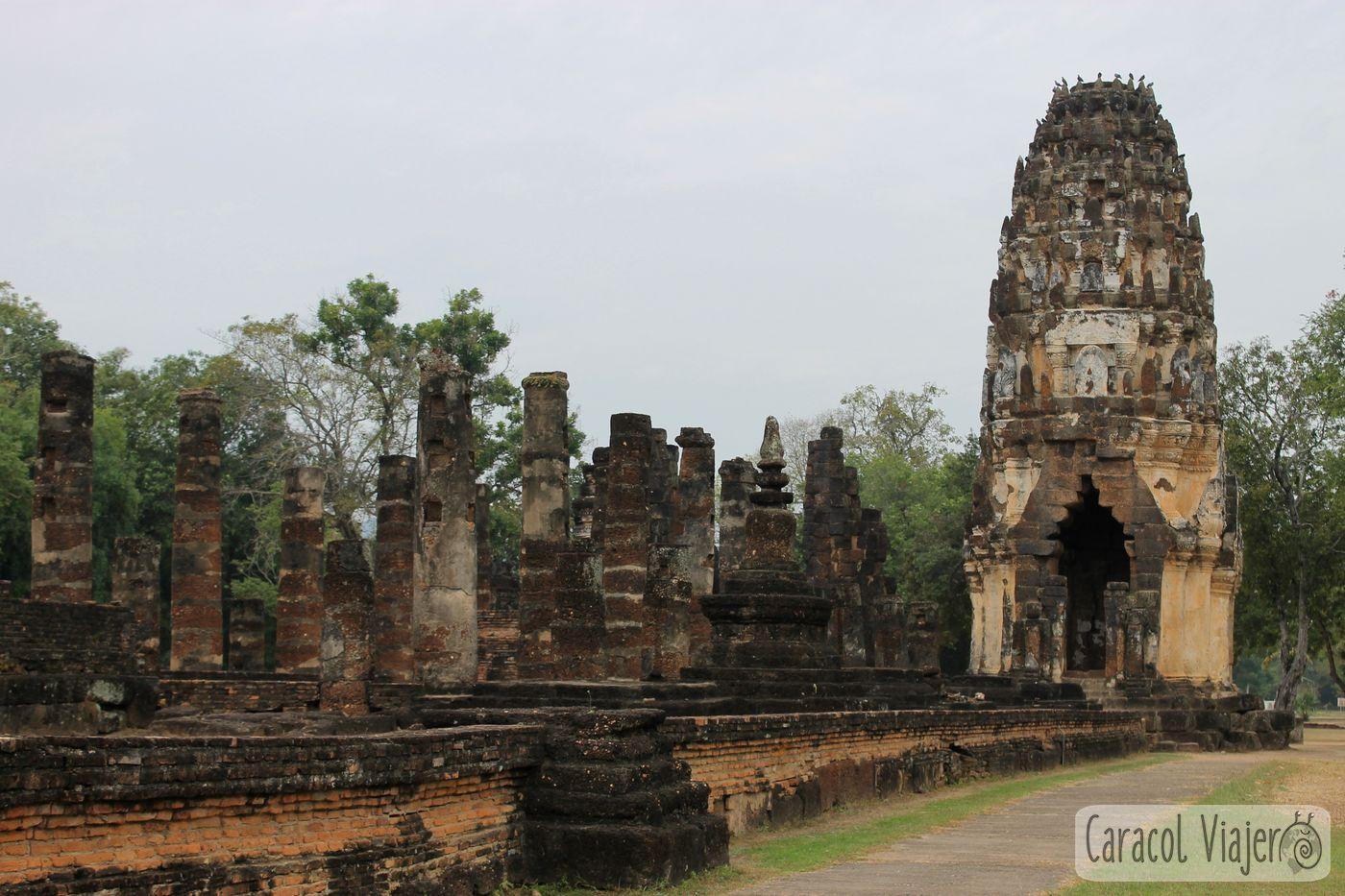 Wat Phra Phai Luang, Sukhothai, Tailandia.