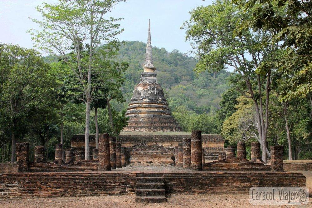 Parque histórico Sukhothai zona este