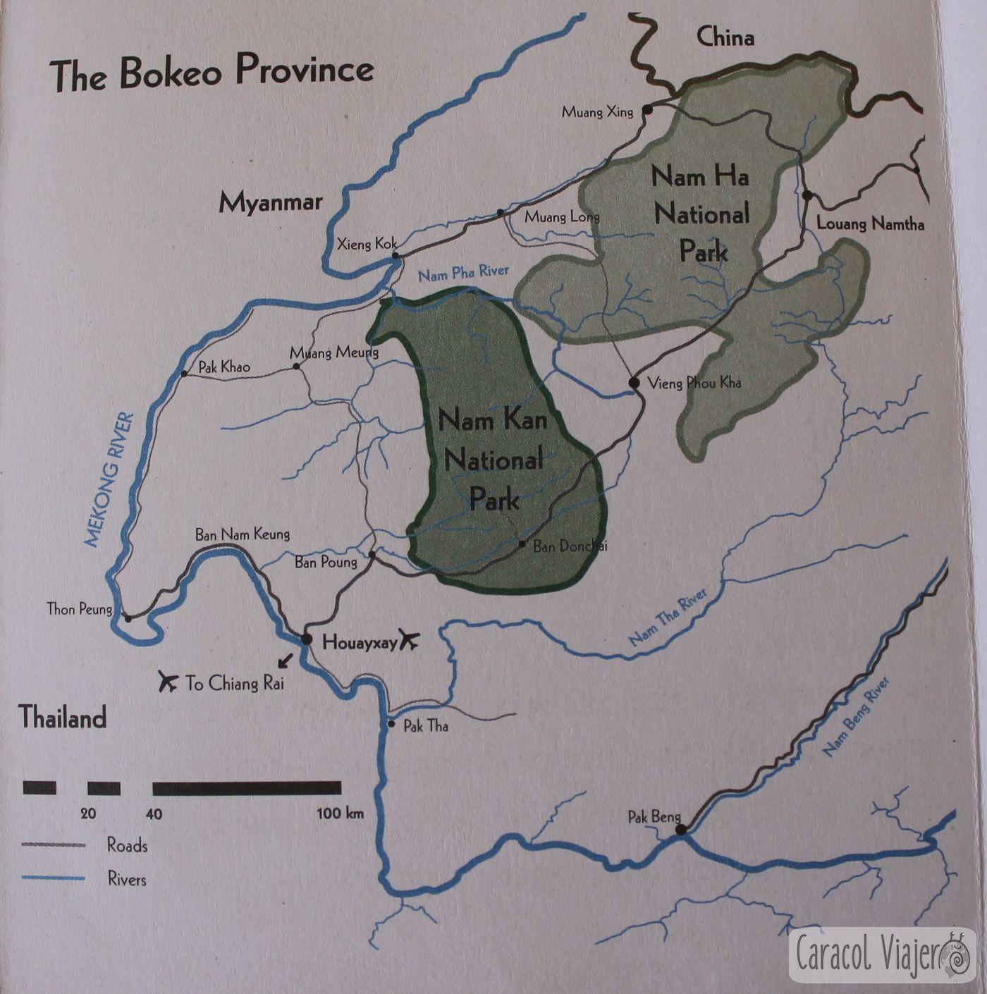 mapa de provincia de Bokeo
