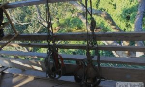 Vídeo tirolinas en Laos