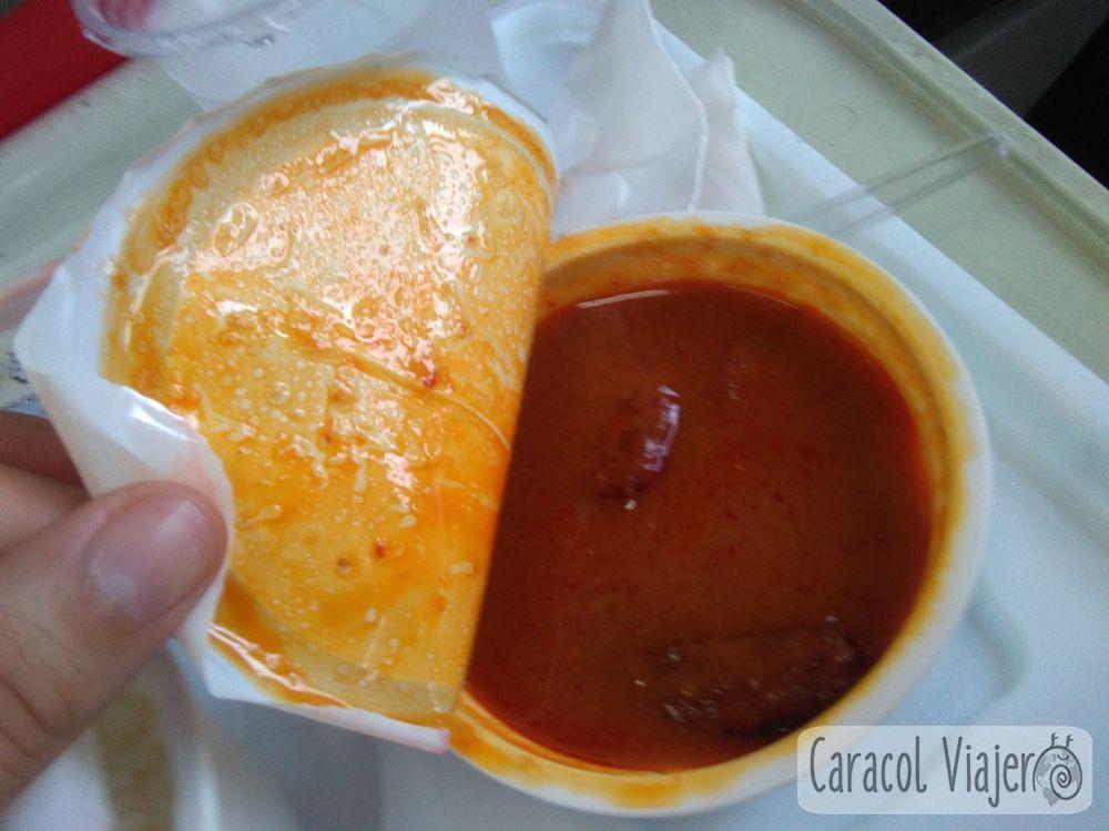 Caballa con curry rojo tren Phitsanulok