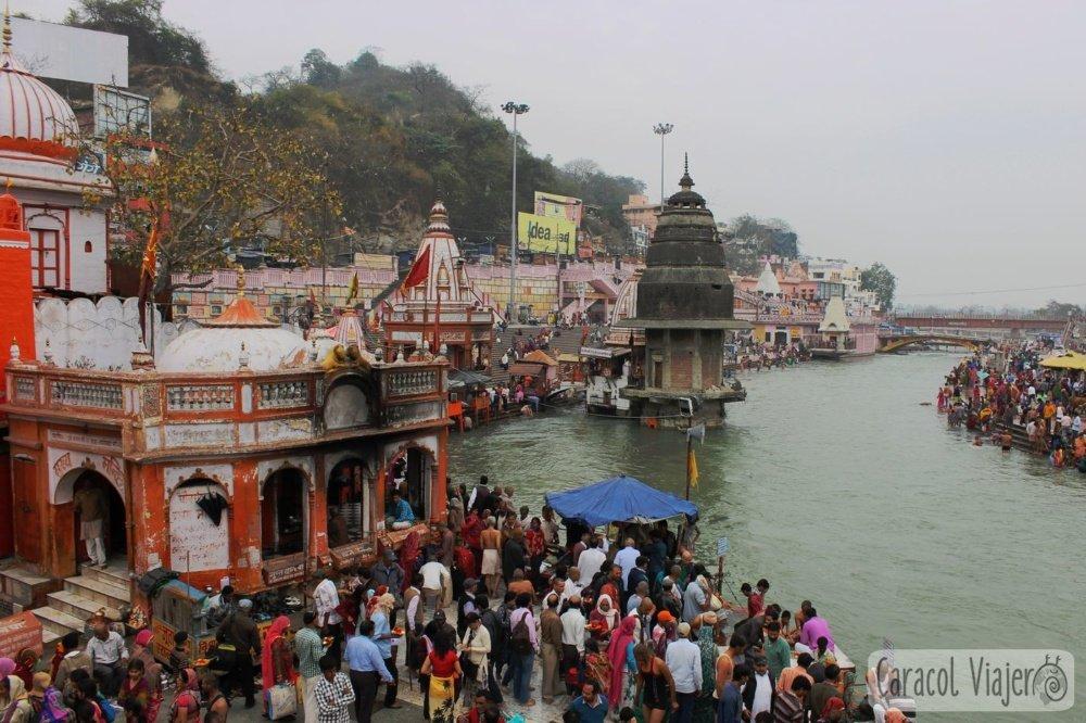 Vistas desde el puente del Har-Ki-Pauri
