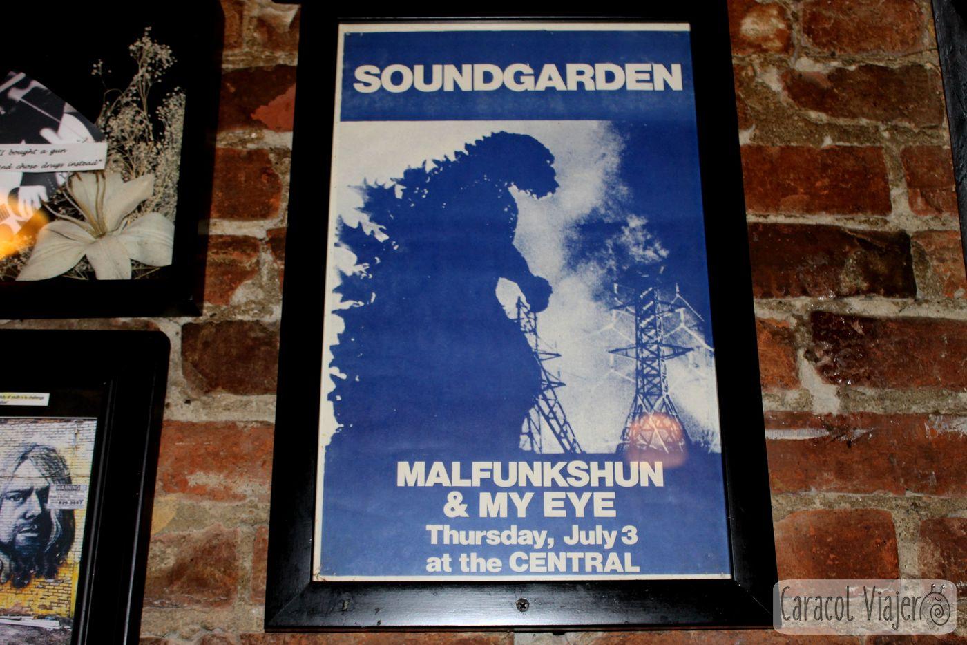 cartel de Soundgarden en The Central