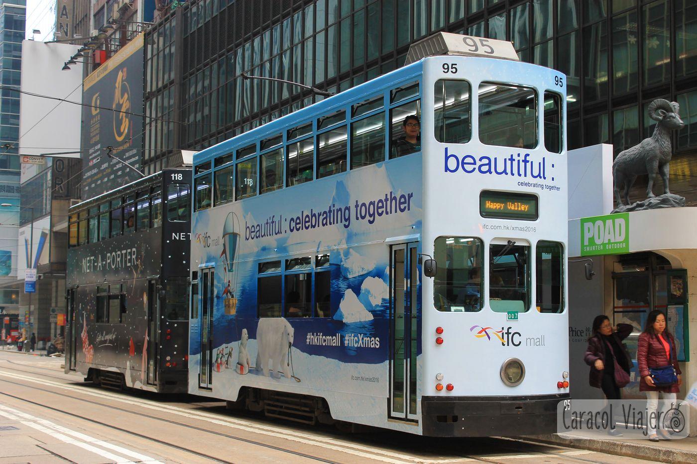 Tranvía azul Hong Kong