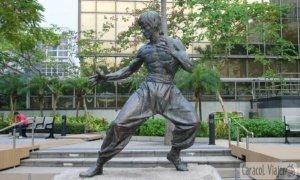 ¡Quiero ver la estatua de Bruce Lee!