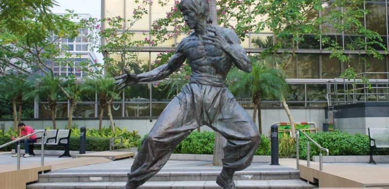 ¡Quiero ver la estatua de Bruce Lee!