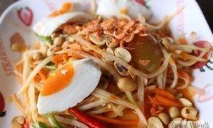Ensalada de papaya tailandesa