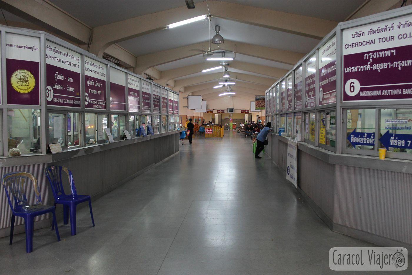 Estación buses Phitsanulok Tailandia