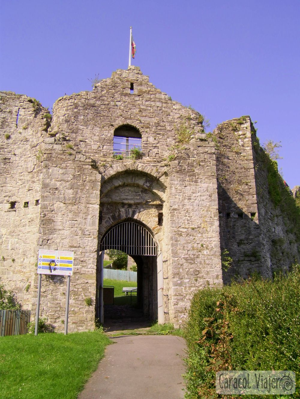 Oystermouth Castle exterior del castillo