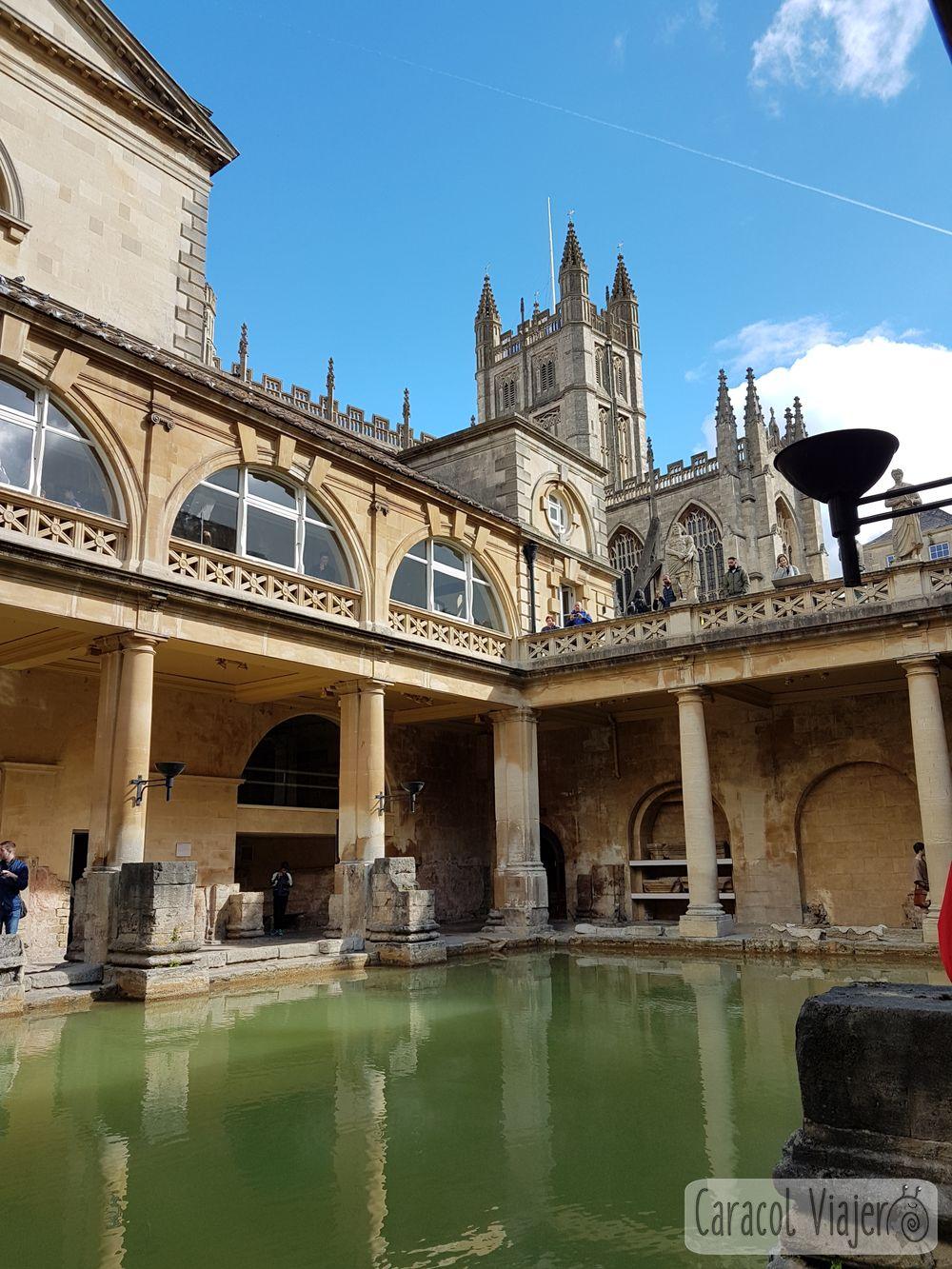 Las termas romanas de Bath interior
