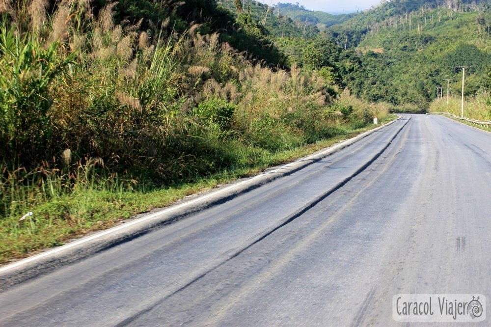 Asfaltado ondulado Laos