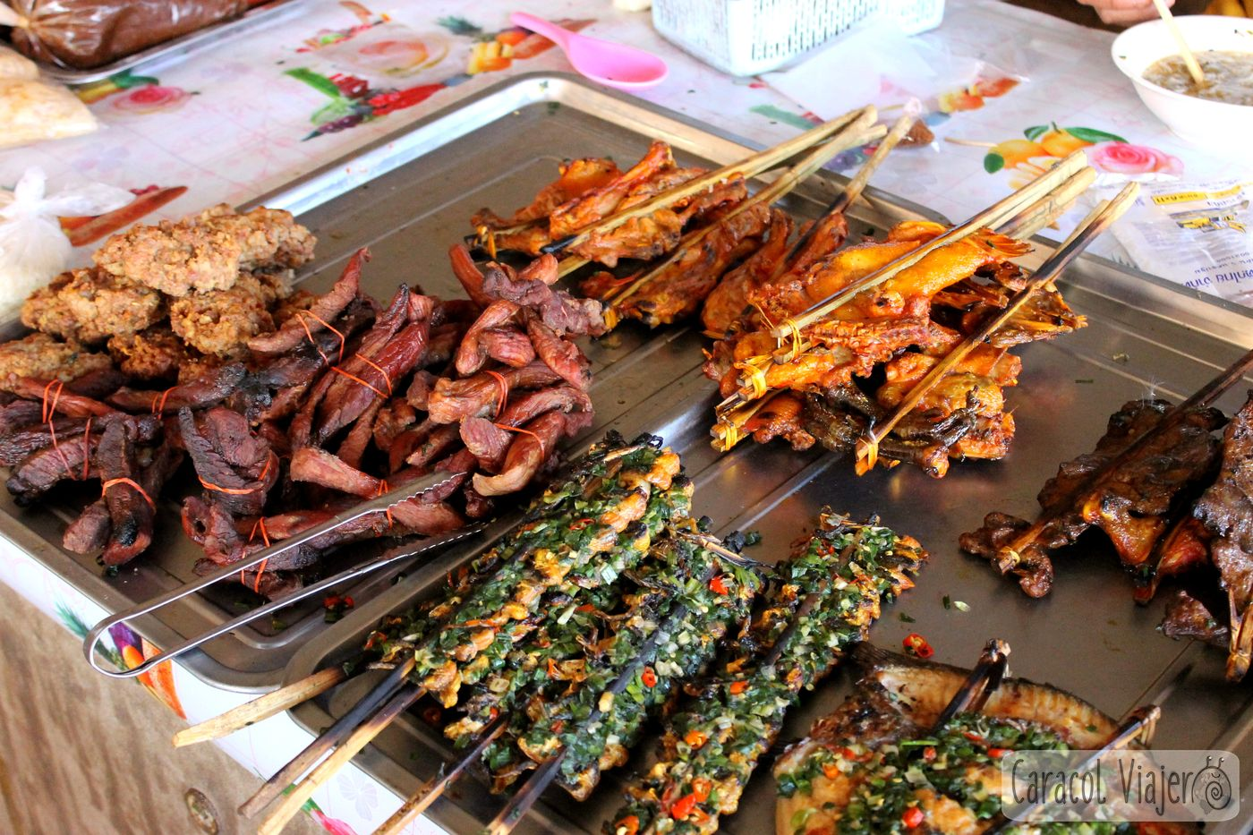 Los pinchos de carne de Laos