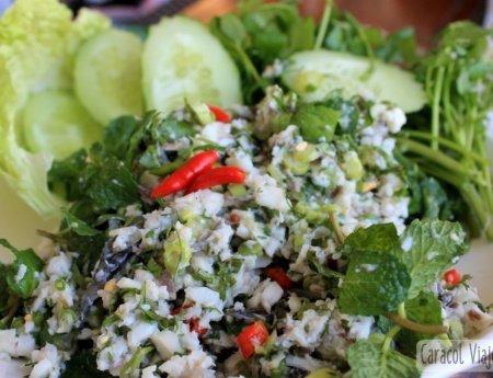 Larb, el plato típico de Laos