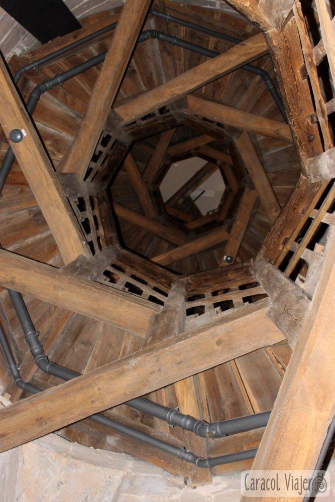 Escaleras de la torre Sinwell, castillo Núremberg