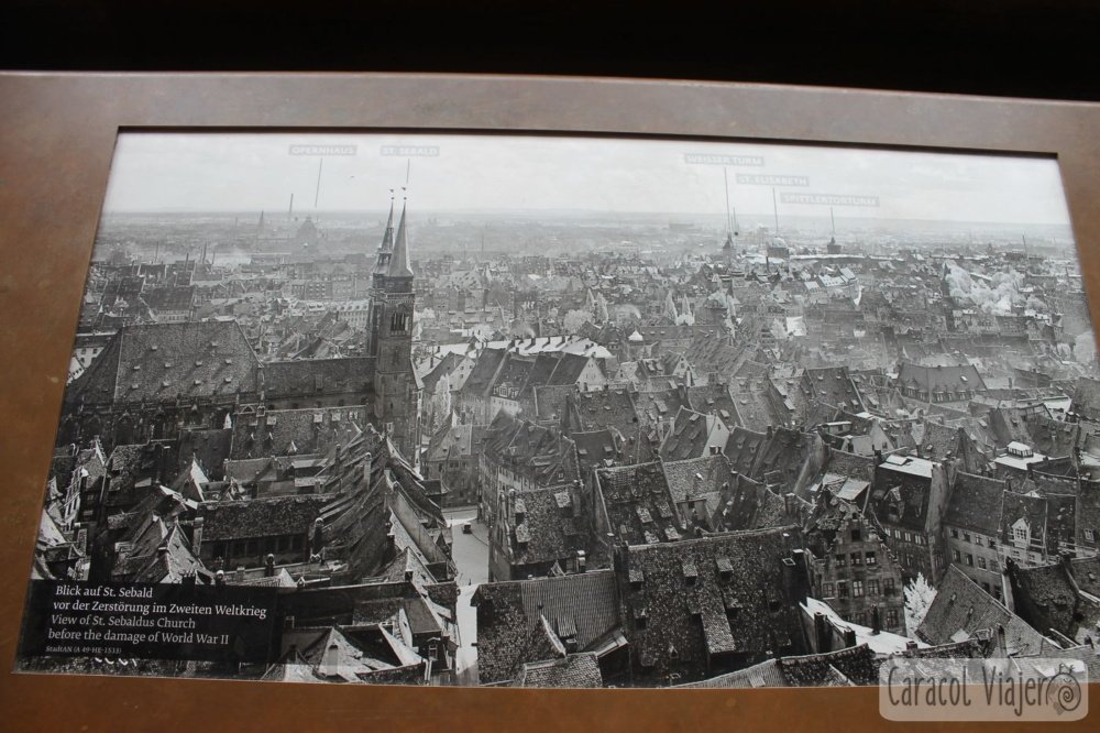 Torre Sinwell vistas antes y después guerra, Núremberg