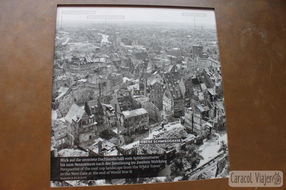 Torre Sinwell vistas antes y después segunda guerra mundial