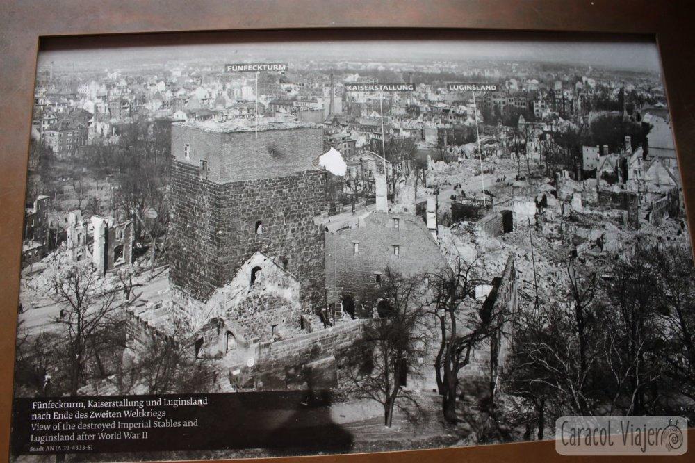 Torre Sinwell vistas antes y después guerra