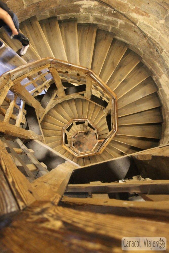 Torre Sinwell, escaleras vistas arriba, Núremberg