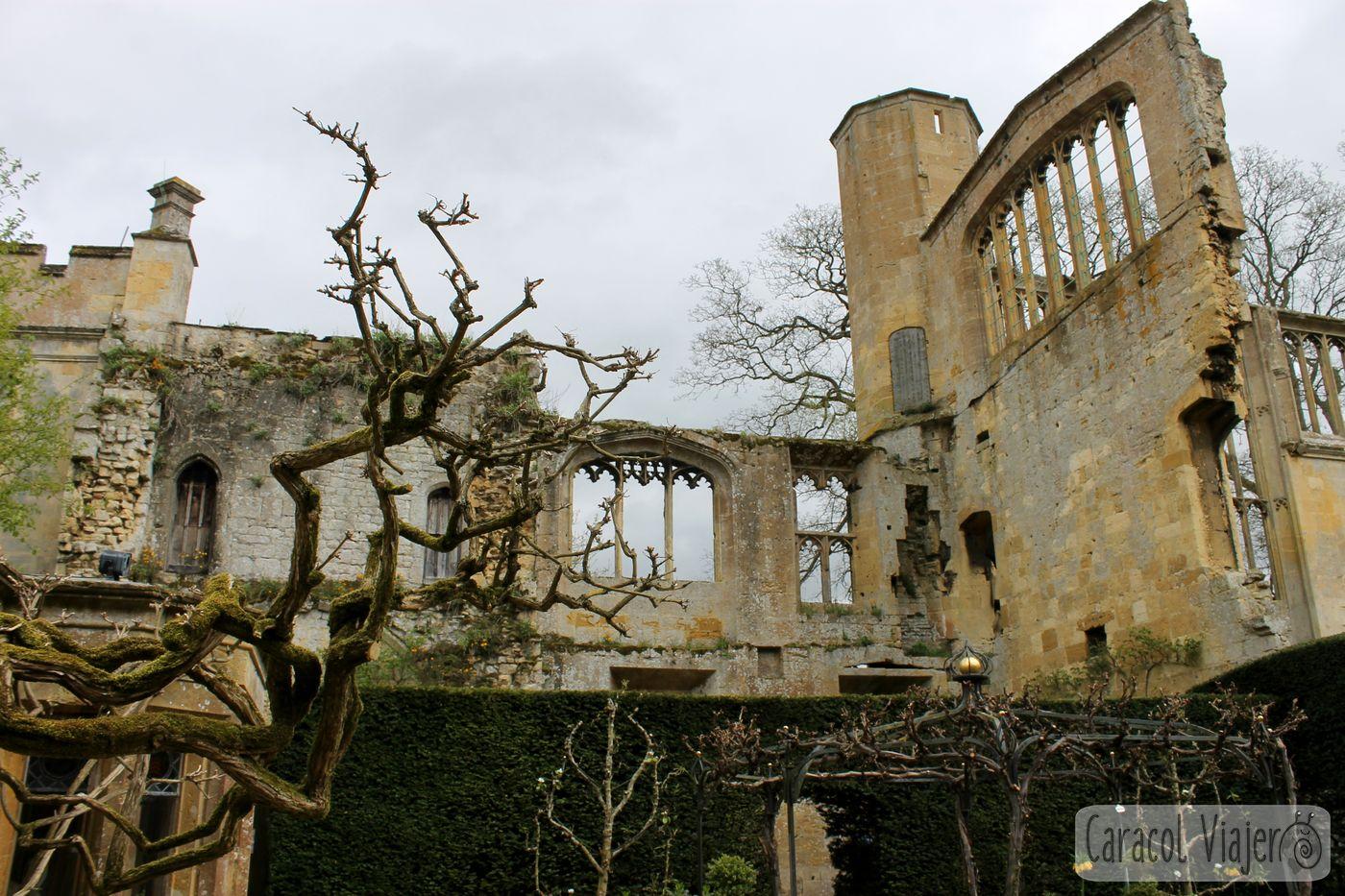 Castillo de Sudeley jardín interior, Cotswolds, Inglaterra.