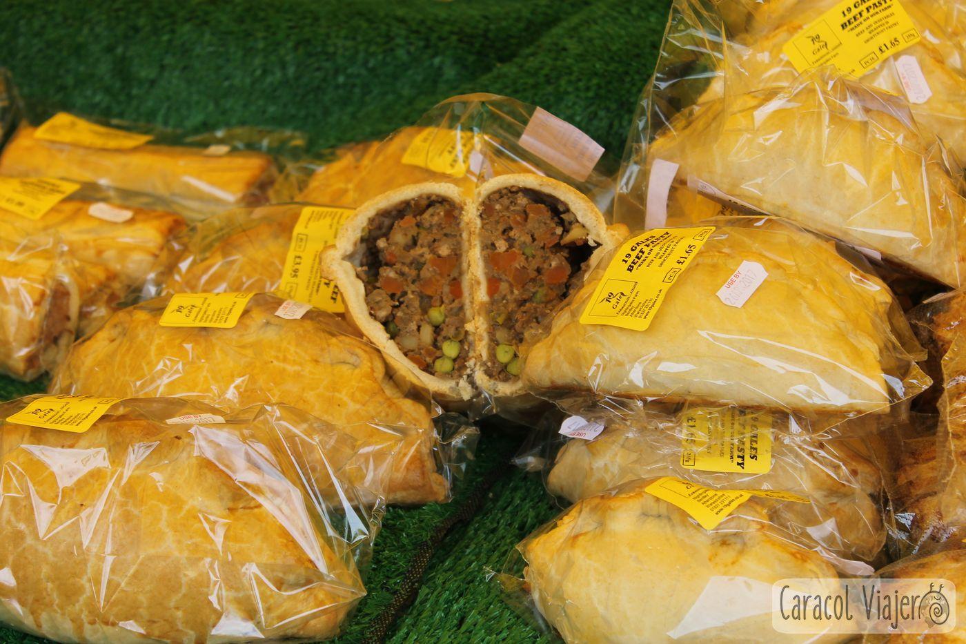 Pastel de carne, mercado de Stratford-upon-Avon