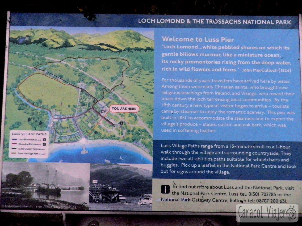 Mapa recorrido Tossachs N.P.