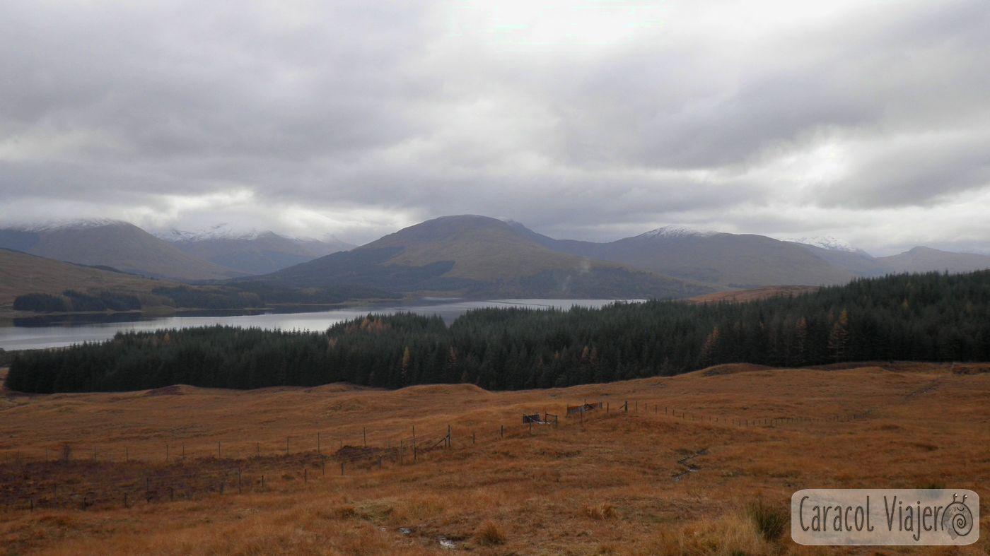Lago en Rannoch Moor - viajar a Escocia
