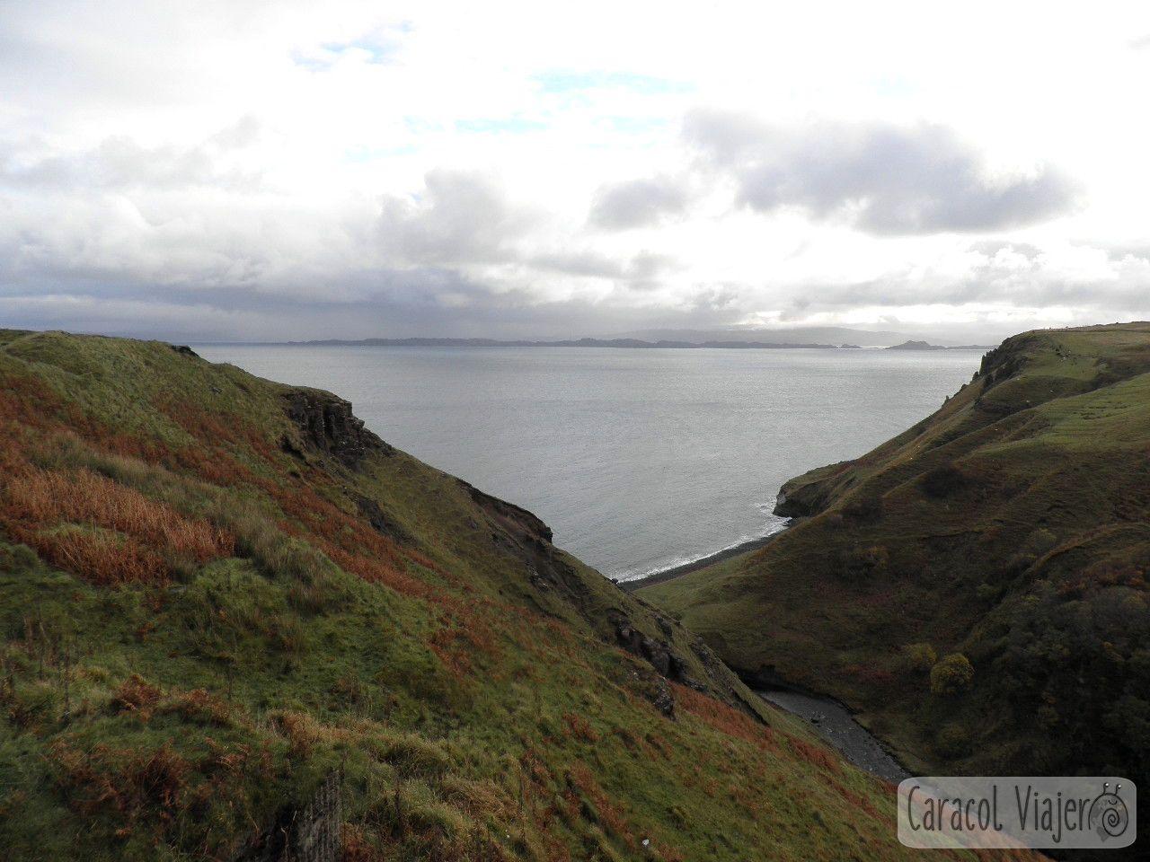 Kilt Rock vistas, Escocia.