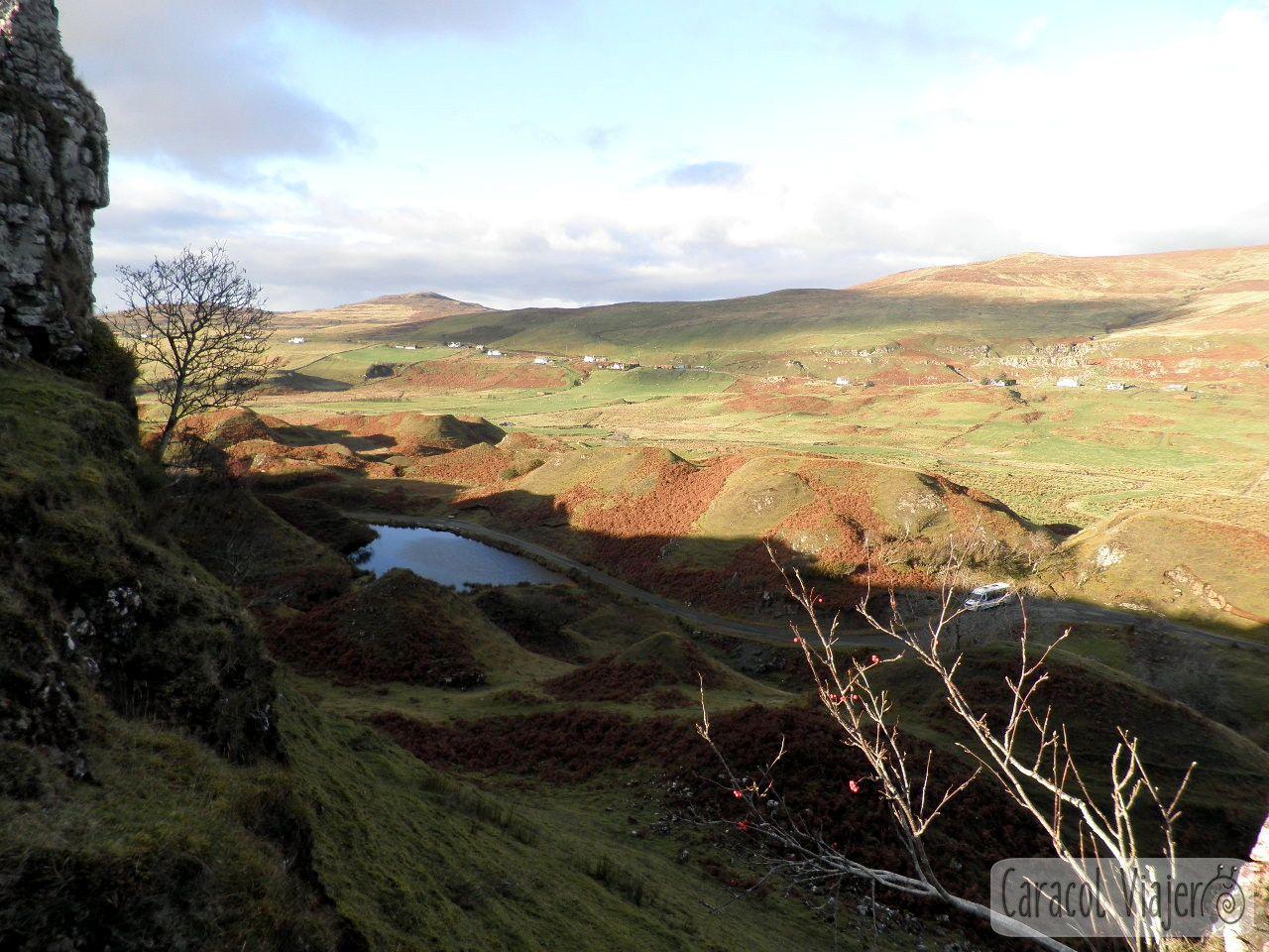 Vistas desde Fairy Glen. Escocia.
