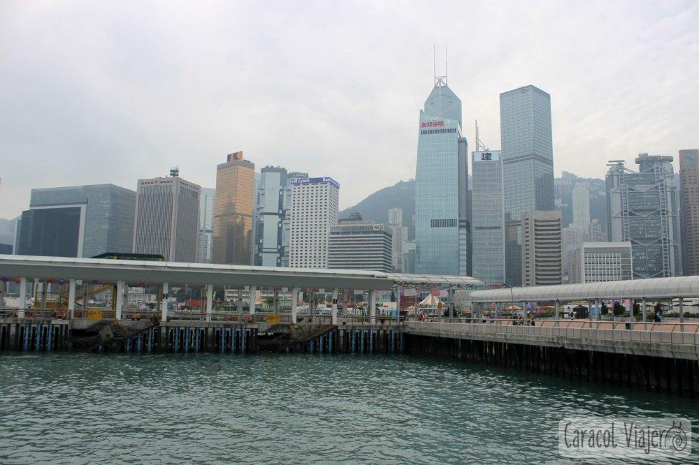 vistas bahía de Hong Kong