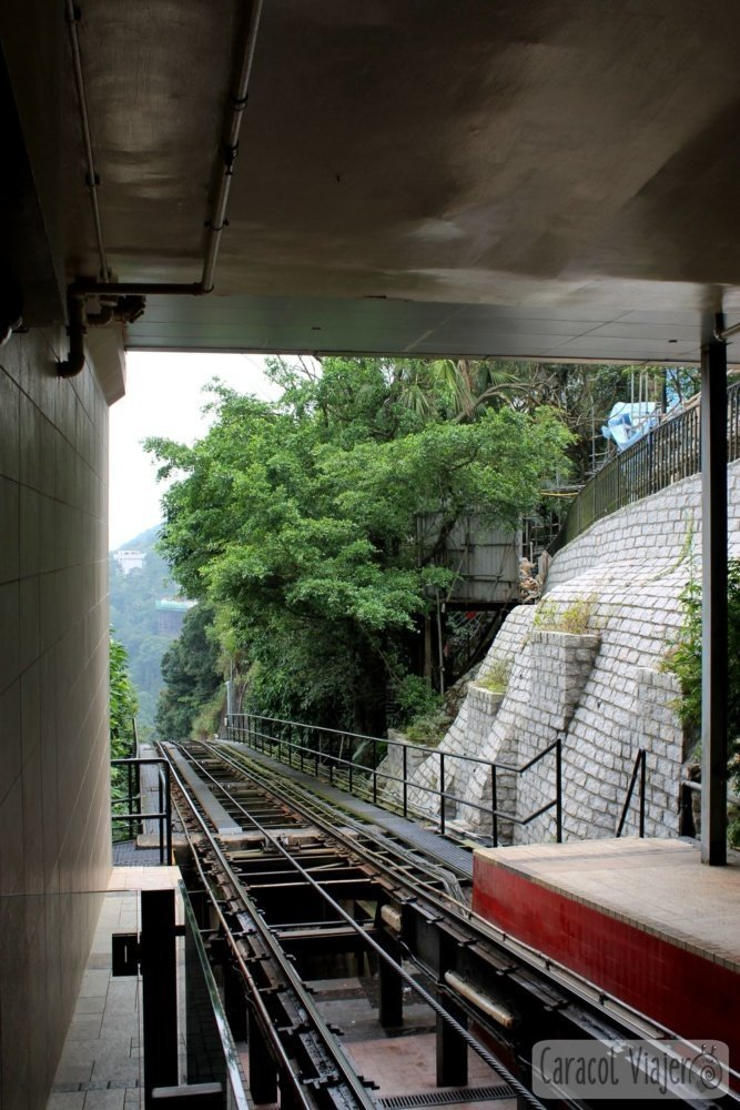 The Peak Tram, Hong Kong, Raíles