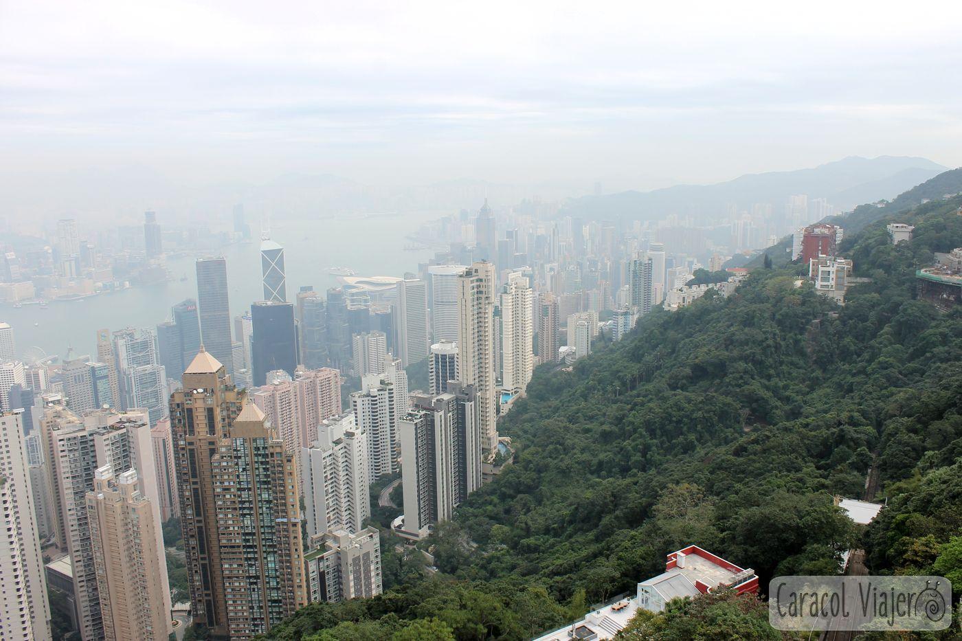 Cumbre Victoria nublado Hong Kong