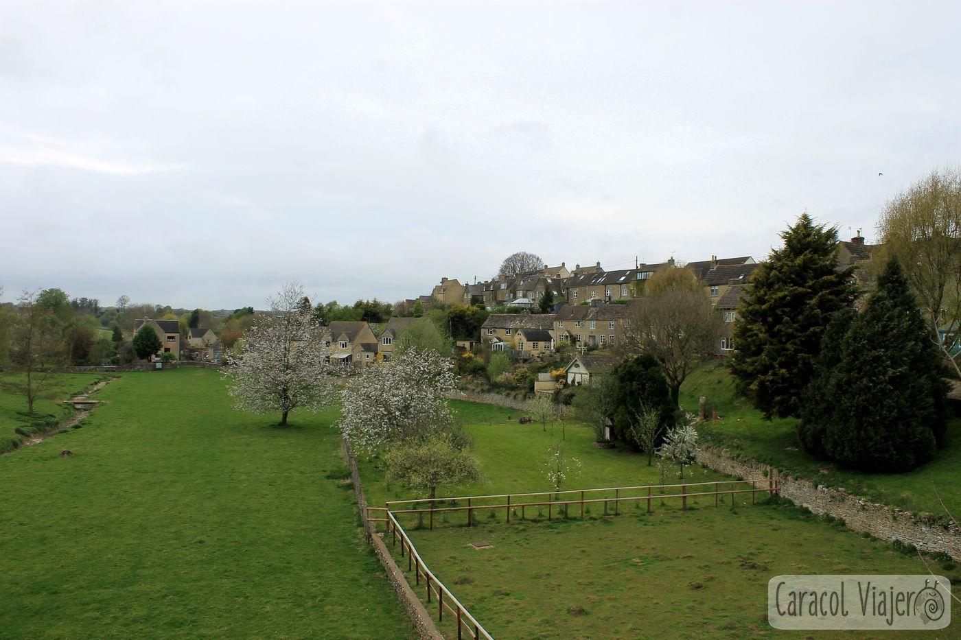Vista desde el puente de Tetbury, ruta al castillo de Sudeley
