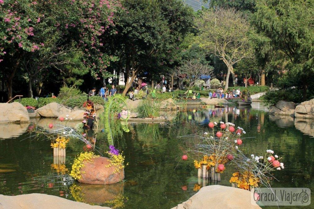Fuente en Hong Kong de jardines botánicos