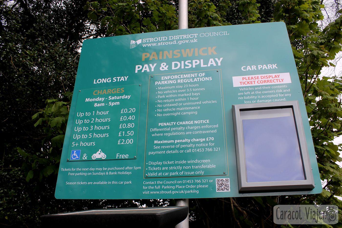 Horarios y precios parking Painswick