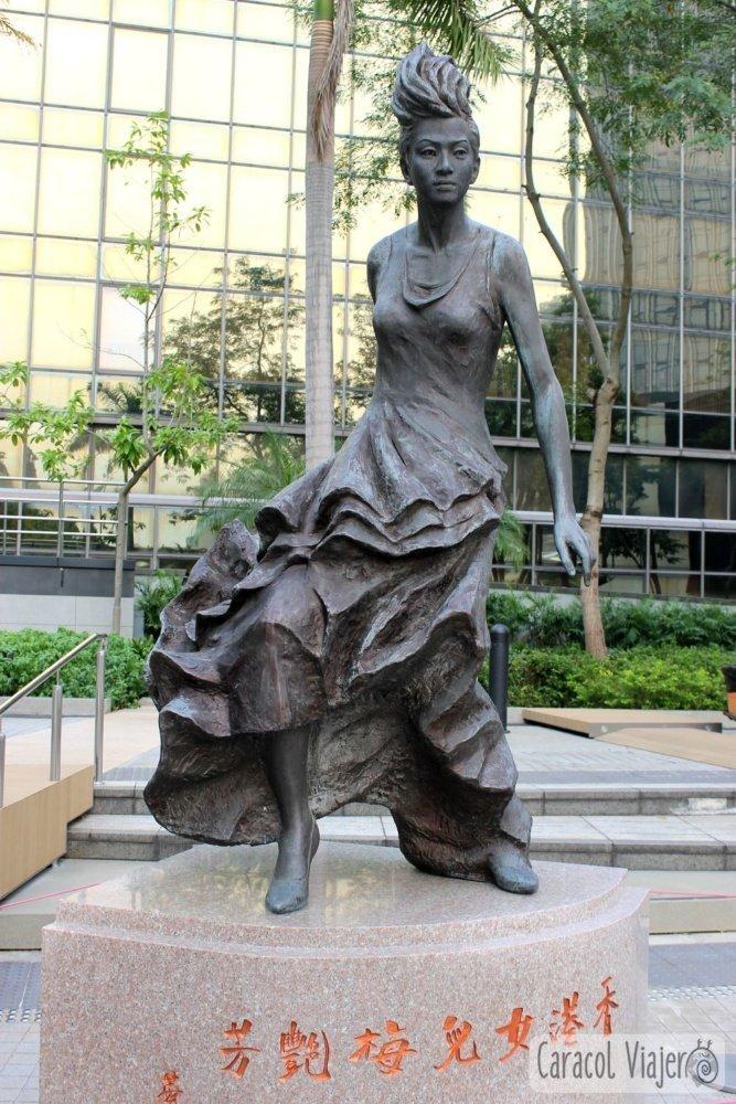 Anita Mui estatua Hong Kong