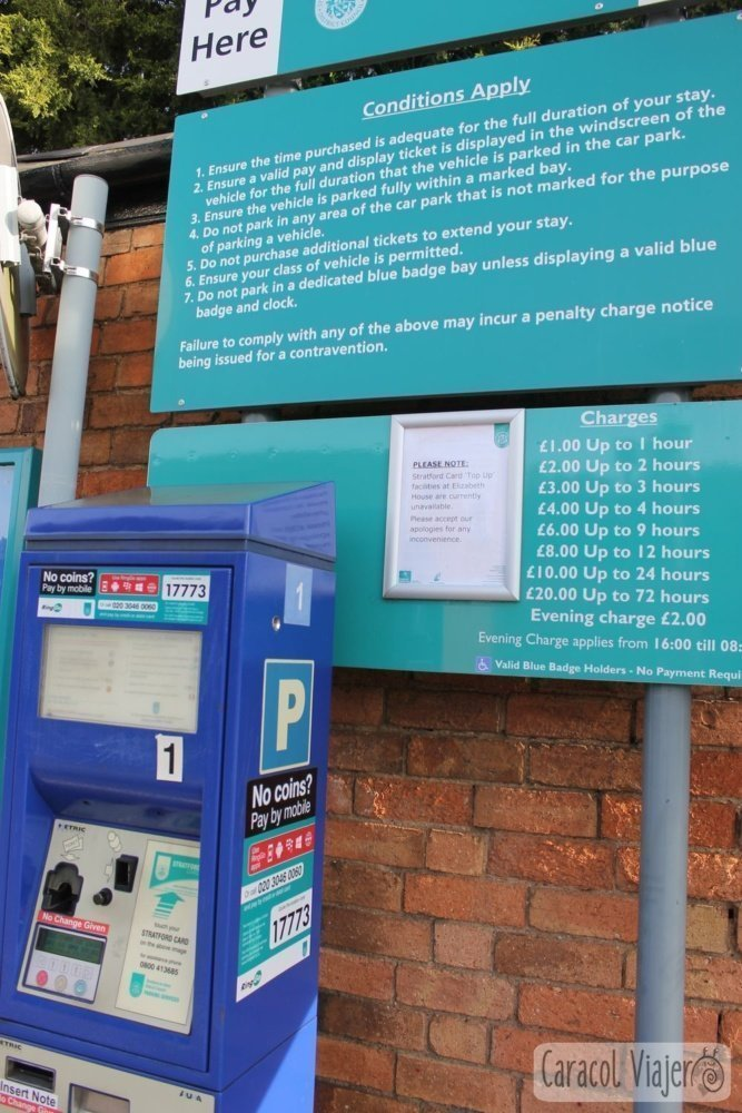 Tarifas parking en Stratford-upon-Avon