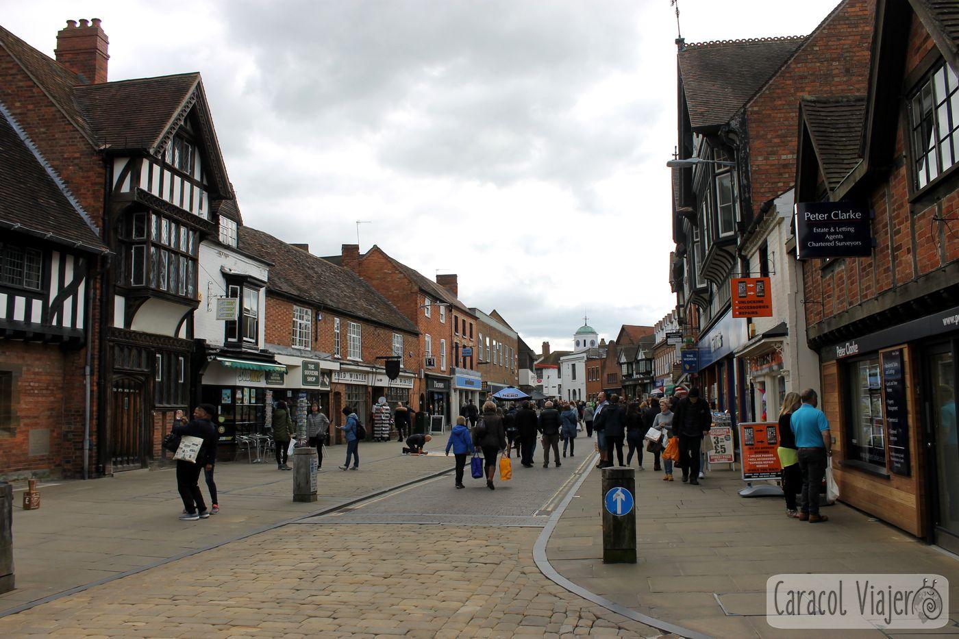 calle de Stratford - lugar de nacimiento de Shakespeare