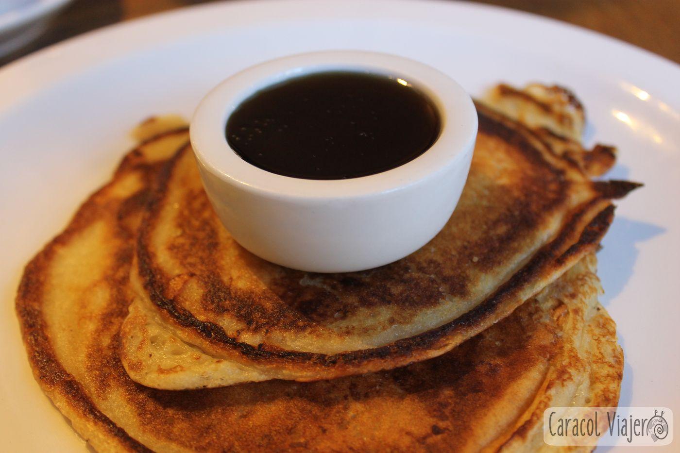 Pancaks con sirope de arce. Inglaterra