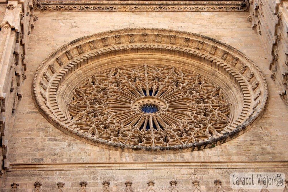 Rosetón catedral de Palma