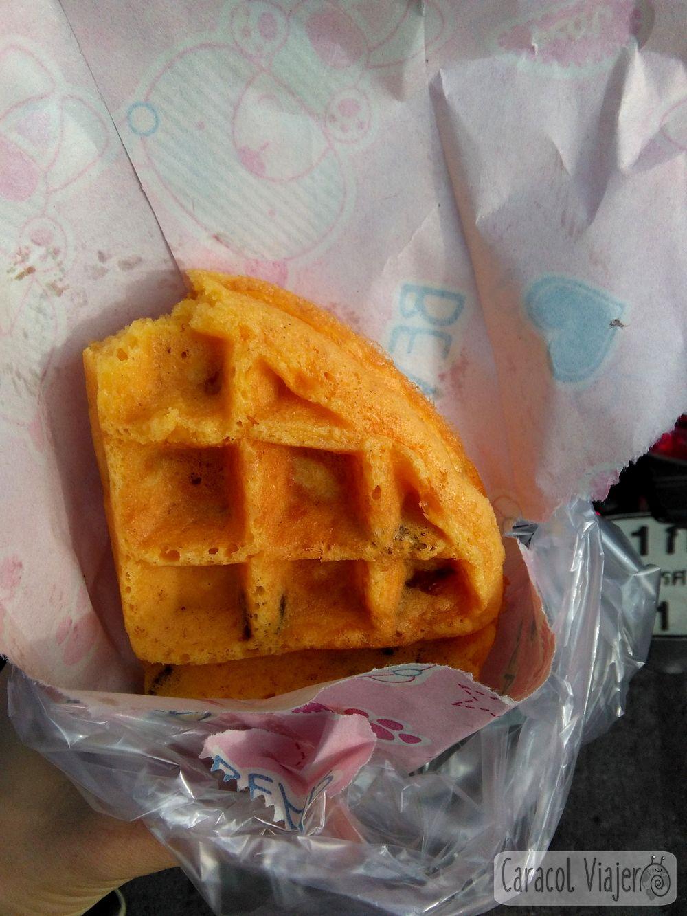Waffle o gofre en Tailandia