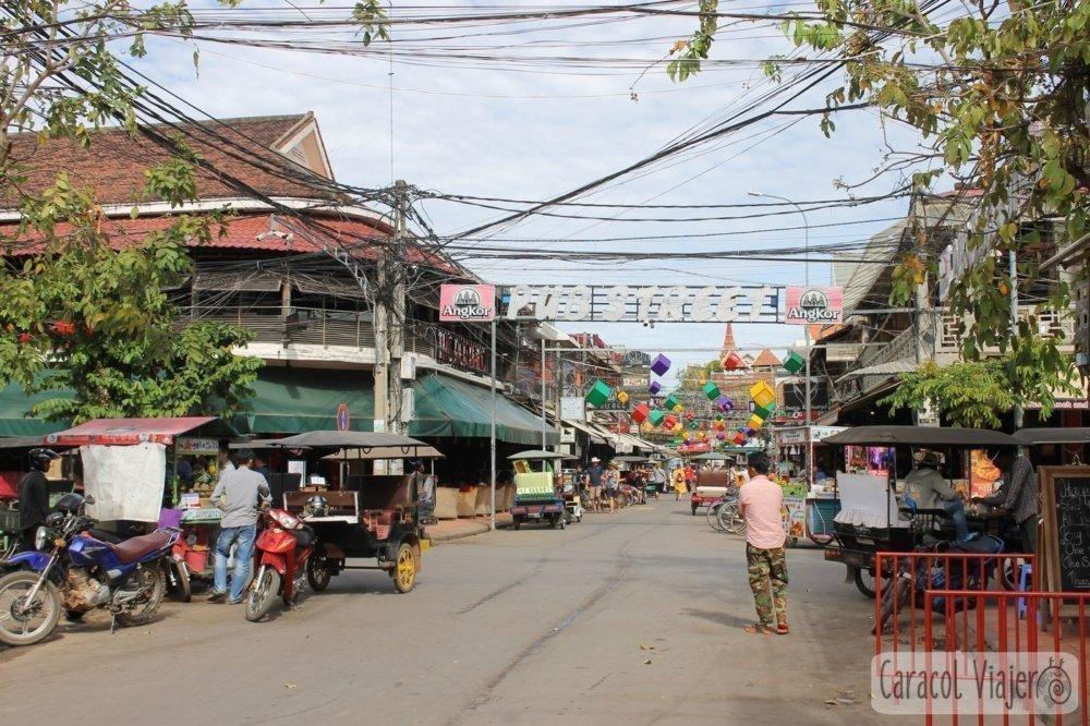Pub Street de día Camboya
