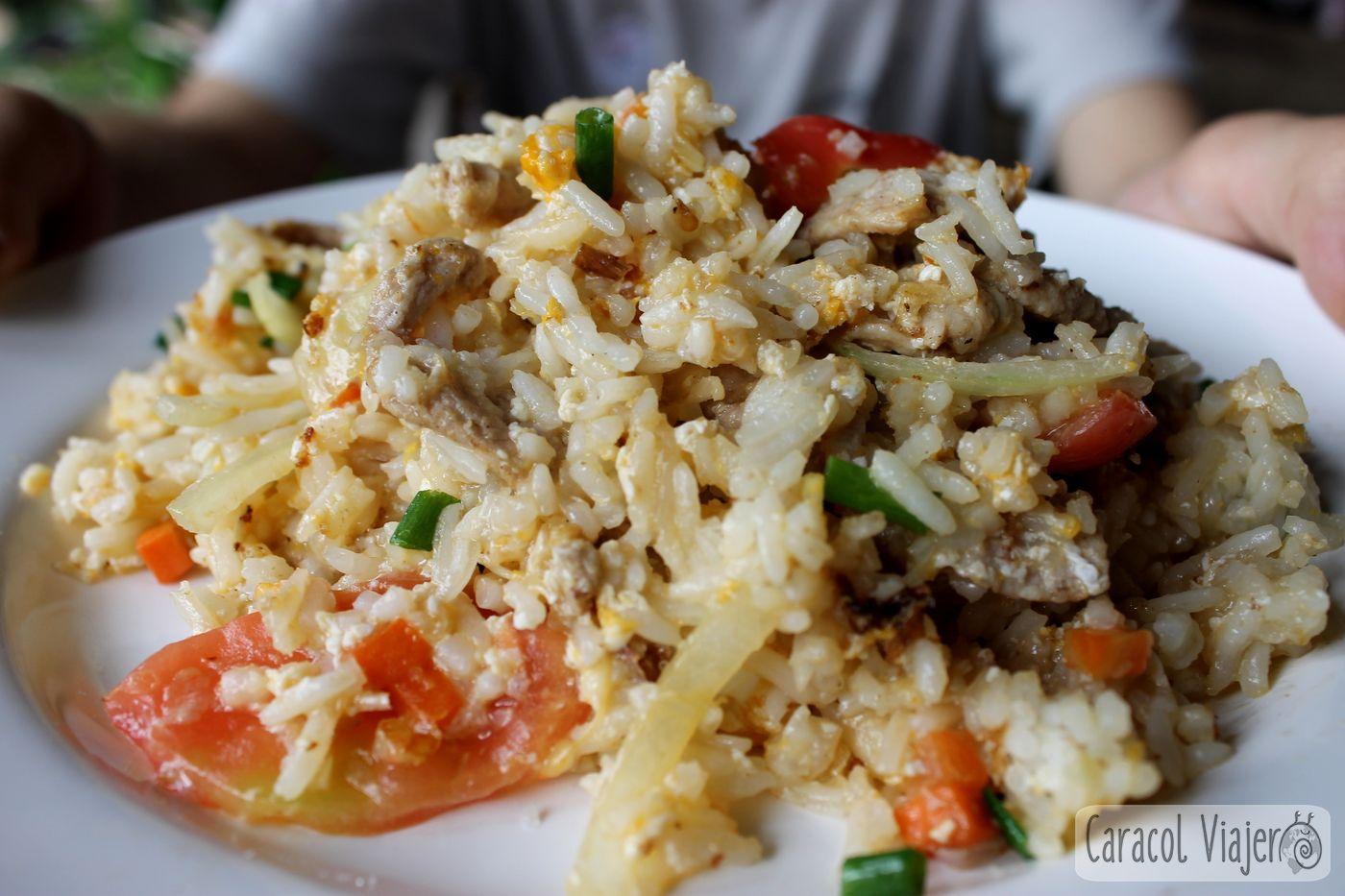 Arroz salteado con verduras Tailandia
