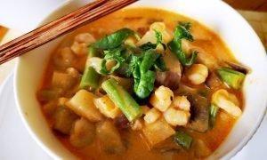 Curry rojo tailandés con leche de coco | 20 minutos